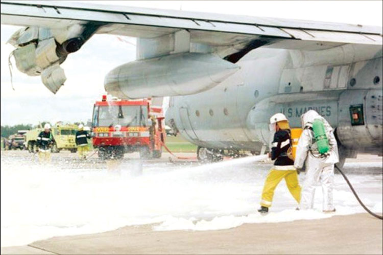 1 ARFF training exercises from the early 2000s